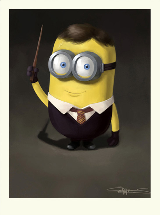 Harry Potter como Minion
