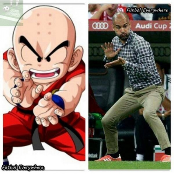 Parecidos razonables: Krilin y Guardiola