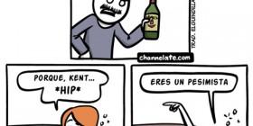La botella medio vacía