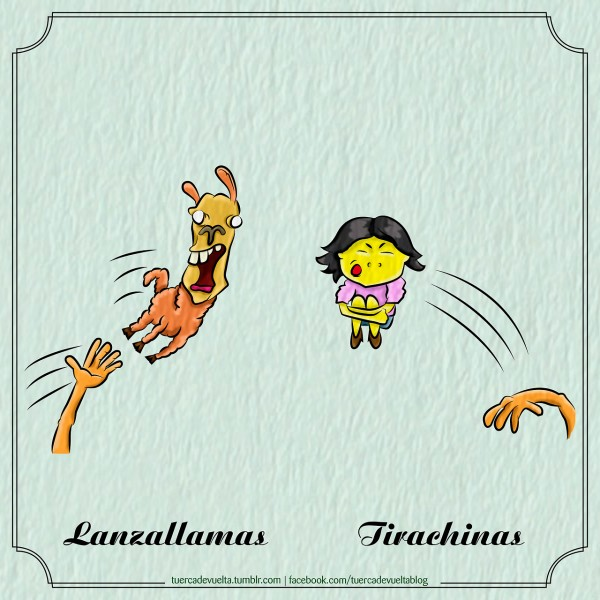 Lanzallamas y tirachinas