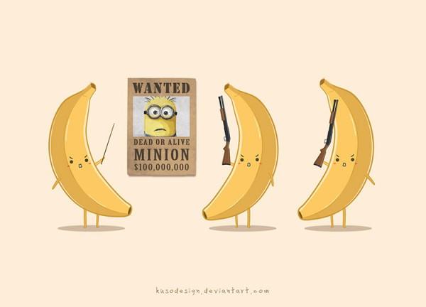 Las bananas ponen en precio a la cabeza de los Minions