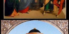 Los desposorios de la Virgen de Rafael hecho con LEGO