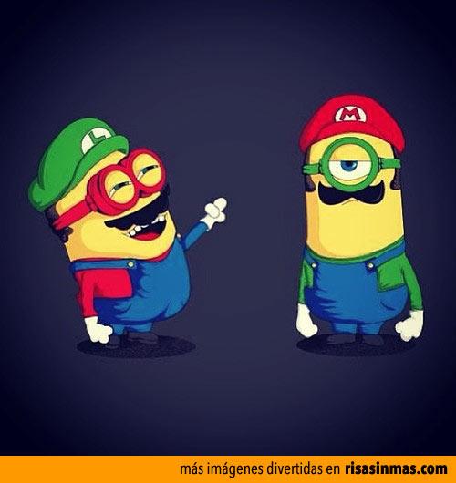 Mario y Luigi Bros como Minions