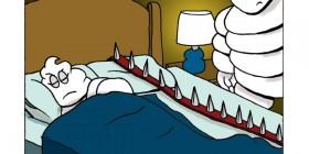 Michelin durmió en el sofá