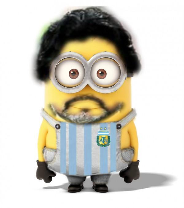 Maradona como Minion