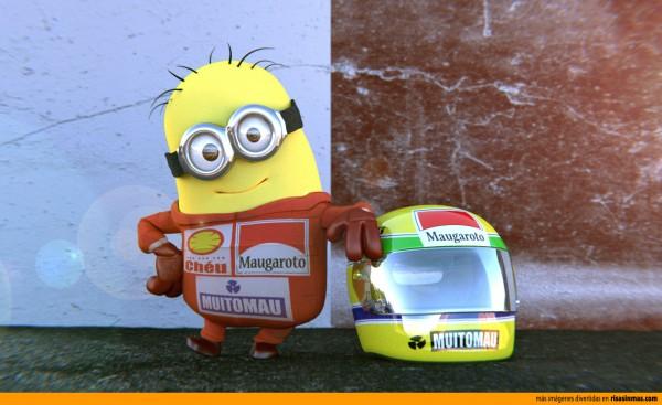 Minion Menna homenaje a Ayrton Senna
