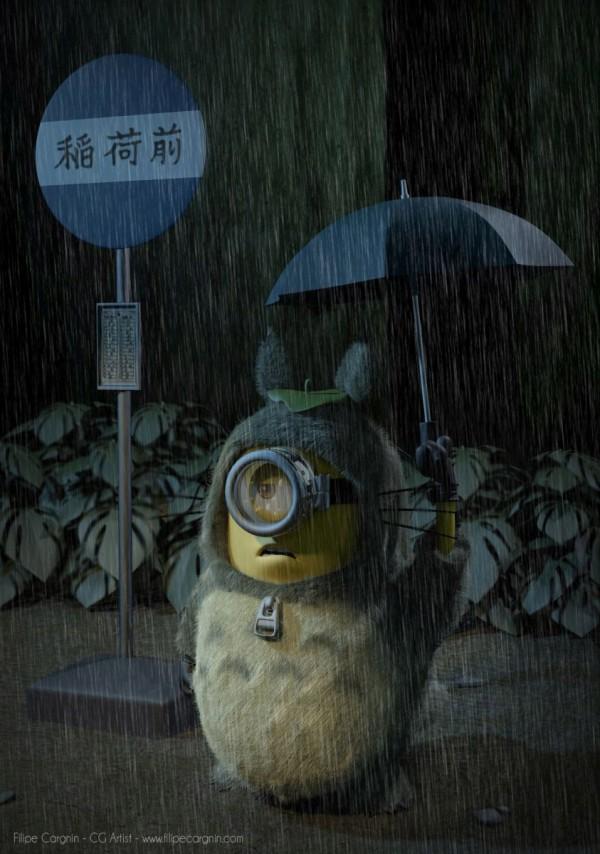 Minion Mi vecino Totoro