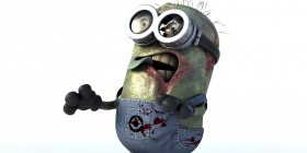 Un Minion como un zombie