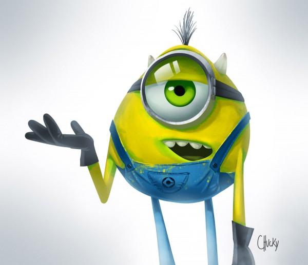 Minion como Mike Wazowski