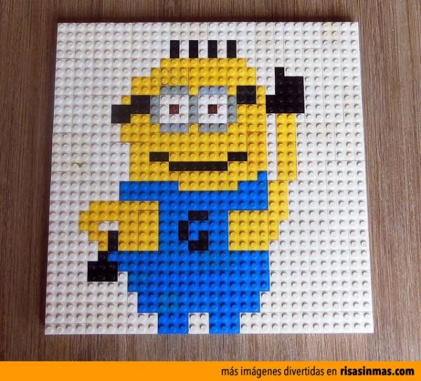 Minion hecho con piezas de LEGO