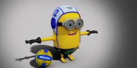 Minion jugador de waterpolo