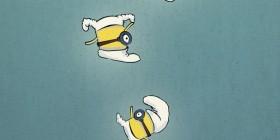 Minion pensando ser un Pitufo