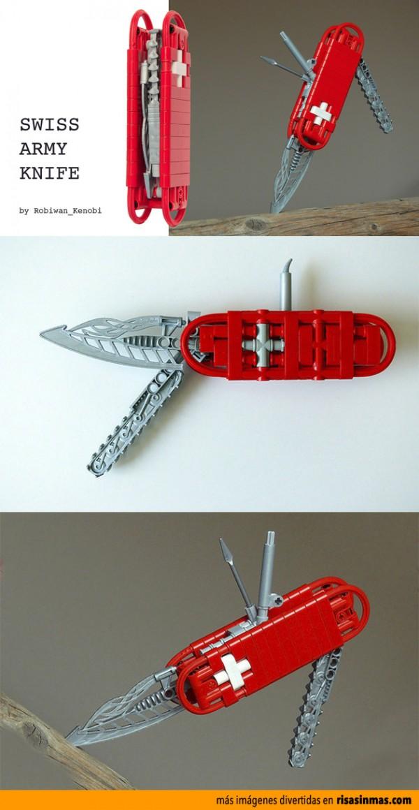 Navaja suiza hecha con LEGO