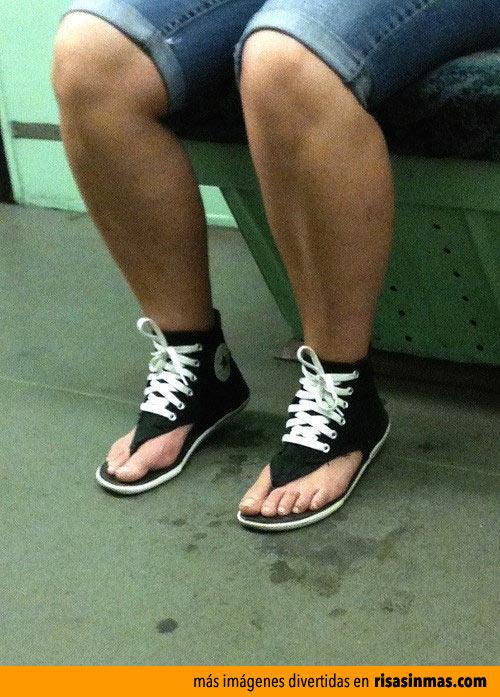 Nueva moda: Converse chancleta