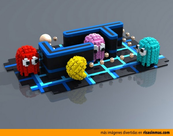 Pac-Man hecho con LEGO