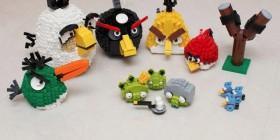 Personajes Angry Birds hechos con LEGO
