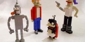 Personajes de Futurama hechos con LEGO