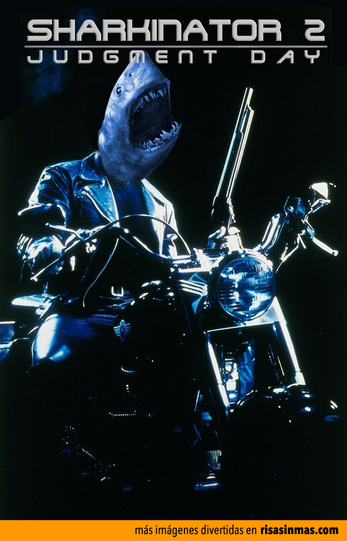 Portadas de cine parodiando Sharknado: Terminator 2