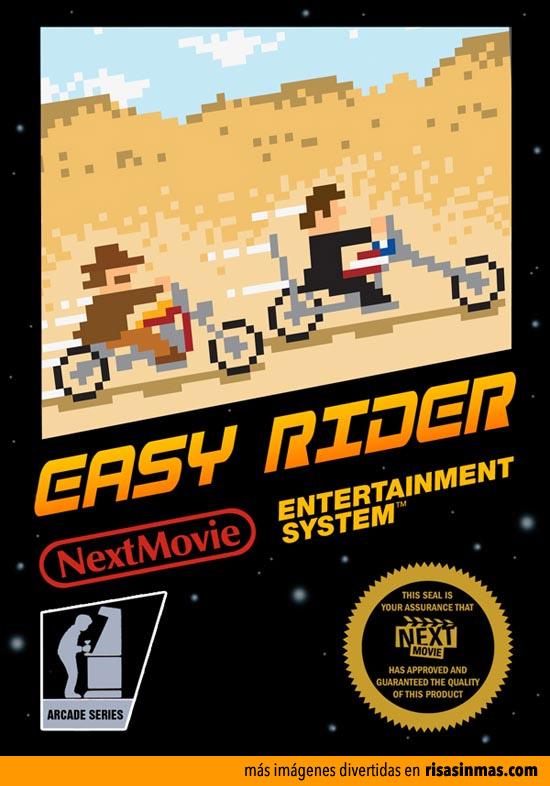 Pósters de cine como si fueran videojuegos de 8 bits: Easy Rider