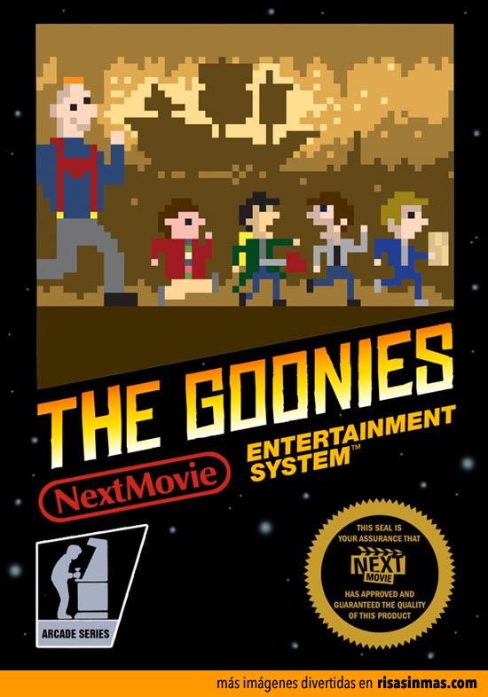 Pósters de cine como si fueran videojuegos de 8 bits: Los Goonies