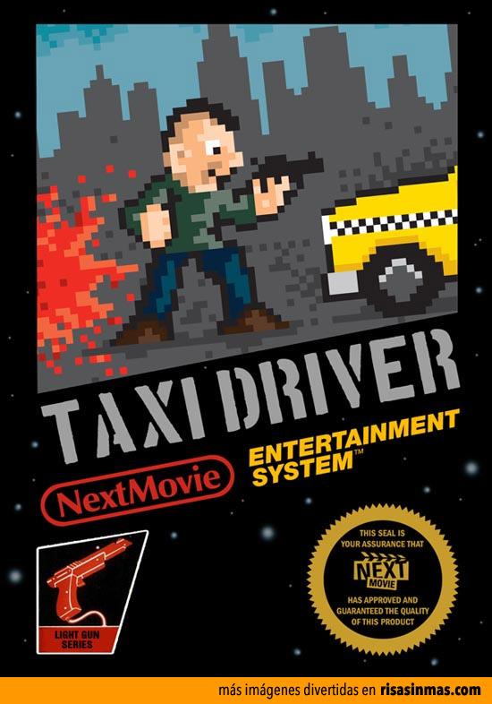 Pósters de cine como si fueran videojuegos de 8 bits: Taxi Driver