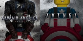 Pósters de cine hechos con LEGO: Capitán América: El primer vengador