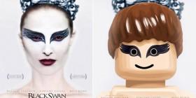 Pósters de cine hechos con LEGO: Cisne negro