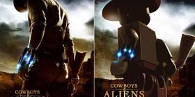 Pósters de cine hechos con LEGO: Cowboys & Aliens