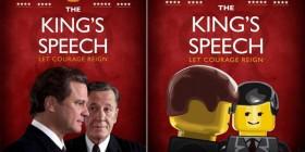 Pósters de cine hechos con LEGO: El discurso del rey