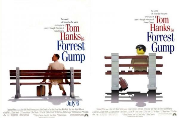 Pósters de cine hechos con LEGO: Forrest Gump