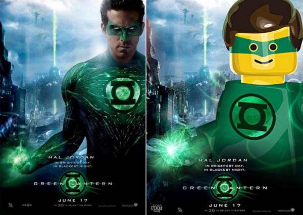 Pósters de cine hechos con LEGO: Green Lantern (Linterna verde)