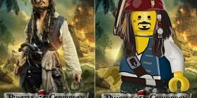 Pósters de cine hechos con LEGO: Piratas del Caribe 4