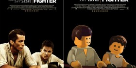 Pósters de cine hechos con LEGO: The Fighter