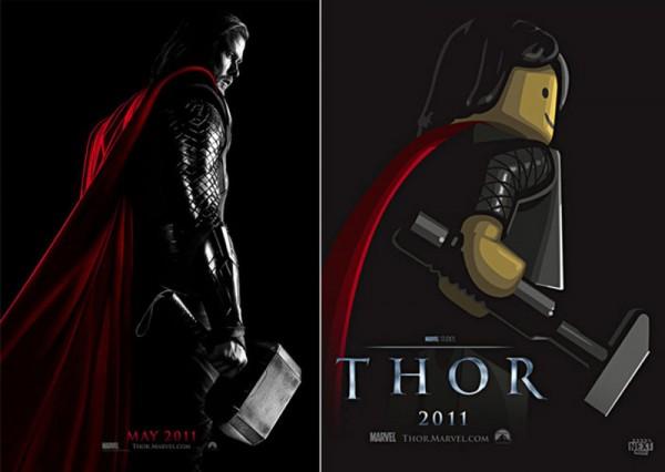 Pósters de cine hechos con LEGO: Thor