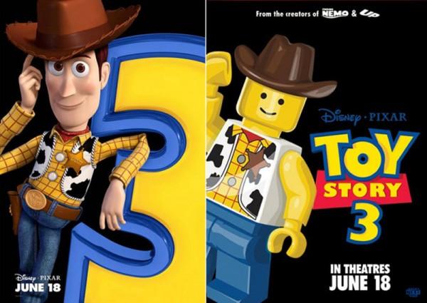 Pósters de cine hechos con LEGO: Toy Story 3