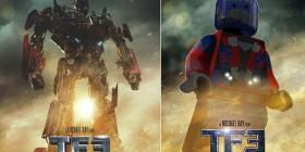 Pósters de cine hechos con LEGO: Transformers 3