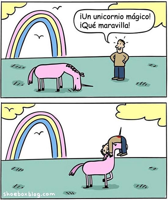 ¡Un unicornio mágico!