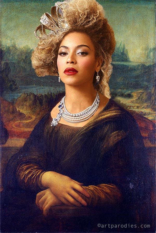 Versiones divertidas de La Mona Lisa: Beyoncé