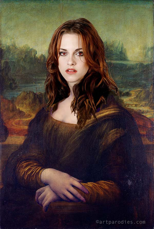 Versiones divertidas de La Mona Lisa: Kristen Stewart
