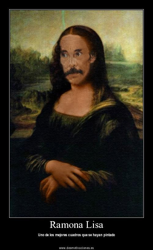 Versiones divertidas de La Mona Lisa: Ramona Lisa