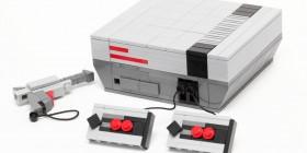 Videoconsola NES hecha con LEGO
