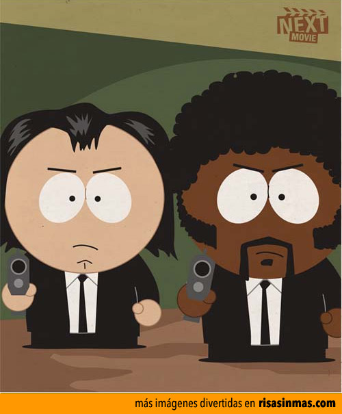 Vincent y Jules de Pulp Fiction como personajes de South Park