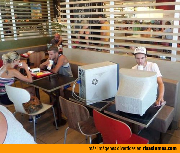 WI-FI gratis en el McDonald's