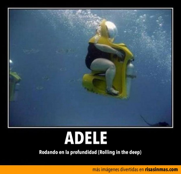 Adele, rodando en la profundidad