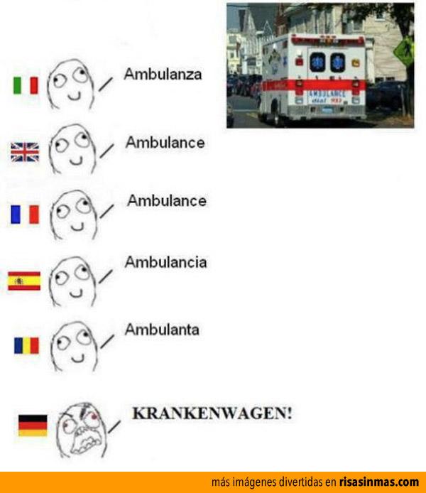 Ambulancia en diferentes idiomas
