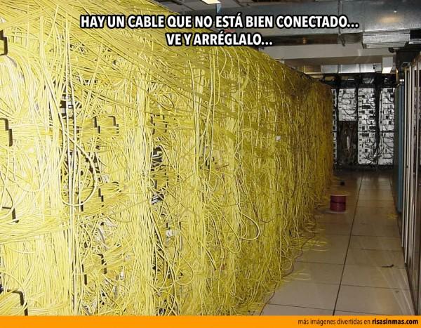 Hay un cable mal conectado