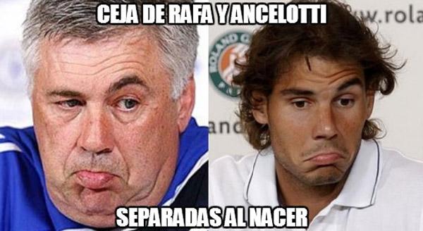 Parecidos razonables: las cejas de Nadal y Ancelotti
