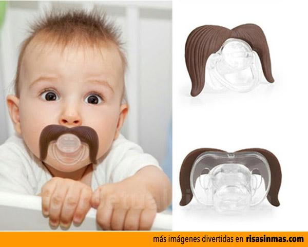 Chupetes originales: con bigotes