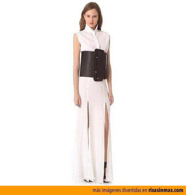 Cinturón con vestido incorporado