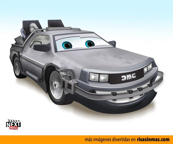 El DeLorean de Regreso al futuro versión Cars